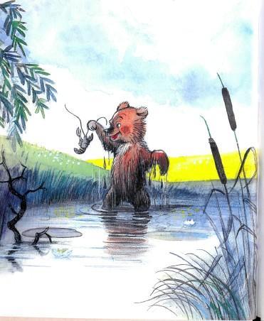 медведь медвежонок река озеро рак