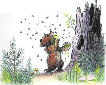 медведь медвежонок мед дупло пчелы