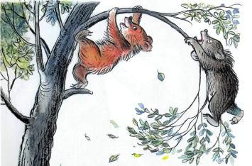 медвежата на дереве медвеженок дерево