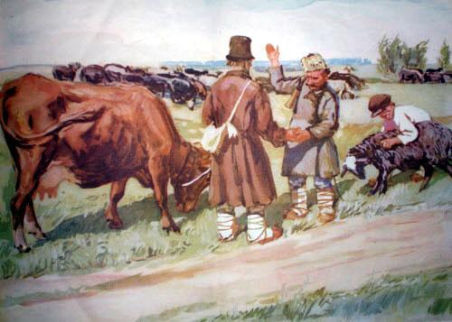Отдал старик коня пастуху, выбрал себе корову