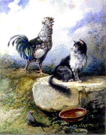 Мышь, петух и кот