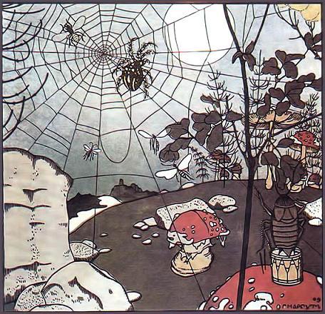 Мизгирь паутина паук