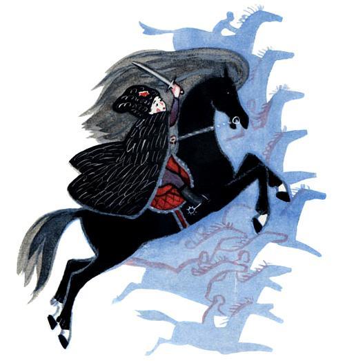 мальчик с саблей на коне