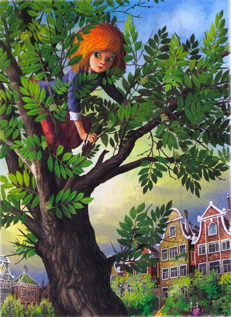 Мурли залезла на дерево