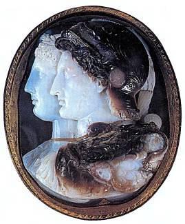 Изображения царя Птолемея II и его жены Арсинои