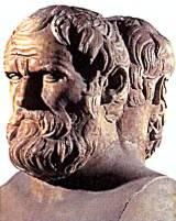 Этот двойной мраморный бюст древнегреческих драматурга Софокла и философа Аристотеля, изготовленный в IV в. до н. э., сейчас находится в Лувре.