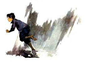 мальчик убегает