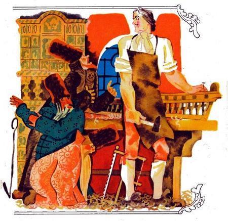 Пётр Великий строит корабли и его бояре