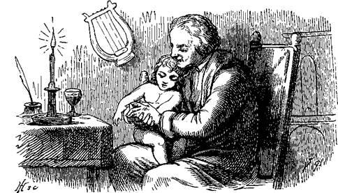 Нехороший мальчик на руках отца