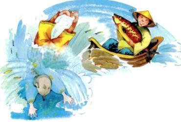 богач упал в воду с лодки