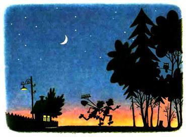 ночью побежали на огород