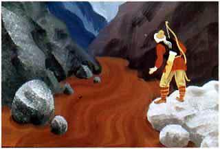 Охотник Харибу в одну долину, глядит... Всю ее покрыли муравьи - земли не видно