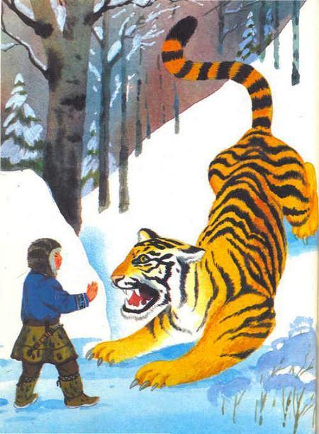 тигр напал на ребенка