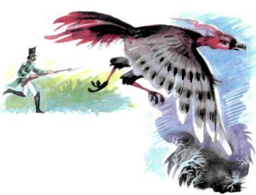 солдат и огромная птица валит деревья