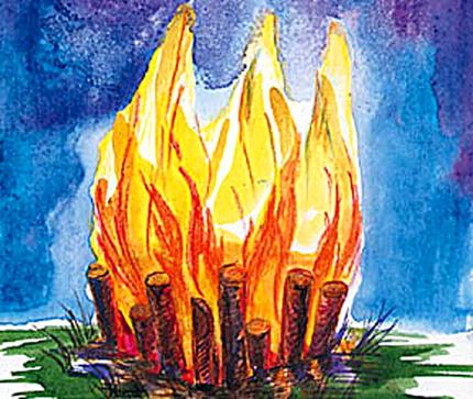 Откуда взялся огонь, когда люди не знали огня ?