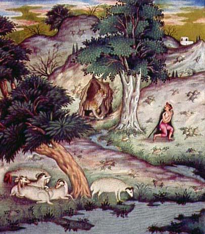Пастух и лев