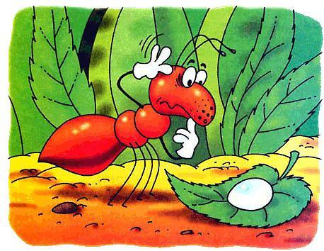 муравей и яйцо
