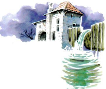 водянная мельница на реке