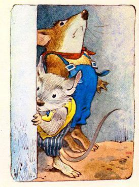 Мыши скорее побежали прятаться.