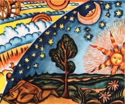 Так представляли себе положение Земли во Вселенной современники Николая Коперника