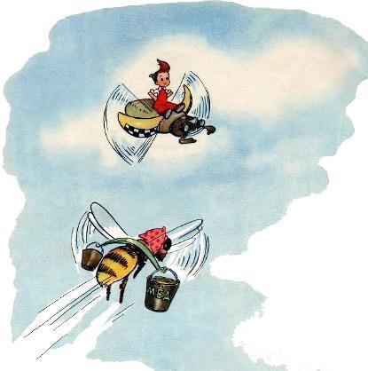 Мурзилка летит на жуке