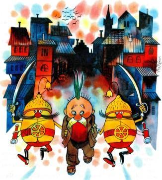 старика Чиполлоне солдаты-лимончики уводят в тюрьму
