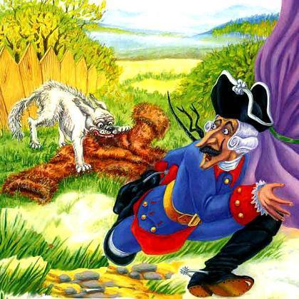 Барон Мюнхгаузен бежит от бешеной собаки