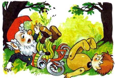 Нодди упал с велосипеда