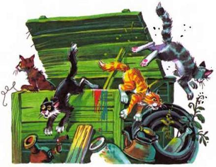 мусорные коты разбегаются