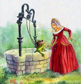 принцесса и лягушка у колодца
