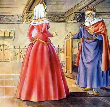 Король и принцесса его дочь