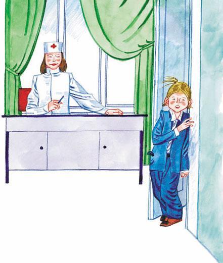 школьник у доктора боится Прививки