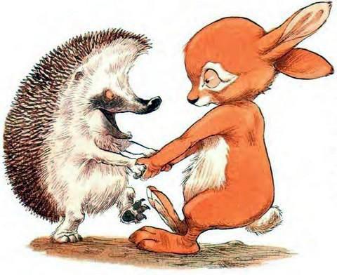 Ёжик и Кролик радуются