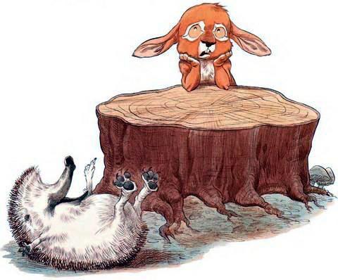 Ёжик упал с пня и Кролик