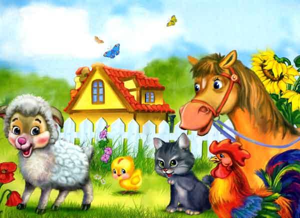 овечка и лошадка