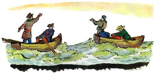 Лодки по морю плывут
