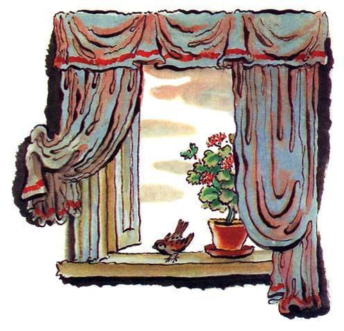 Воробей влетел в окно