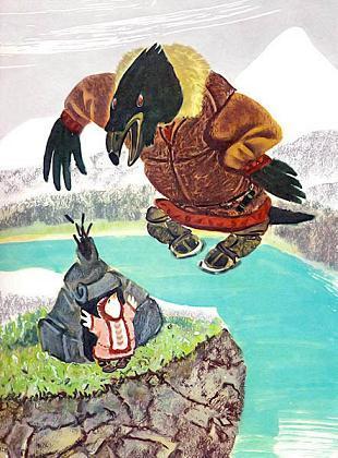 пуночка и огромный ворон
