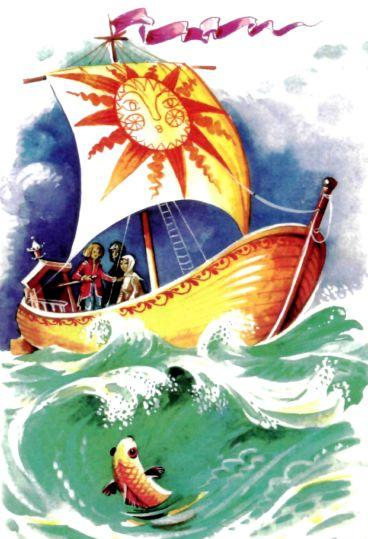 корабль лодка в море в шторм