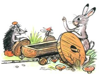 заяц и его телега с разными колесами