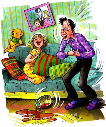 родители Дениски папа и мама смеются