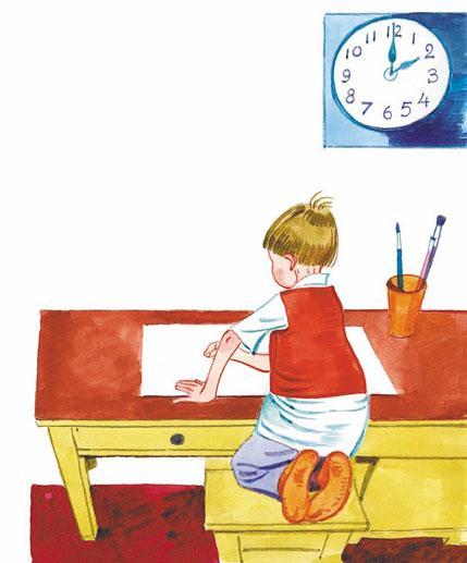 мальчик рисует Рисунок