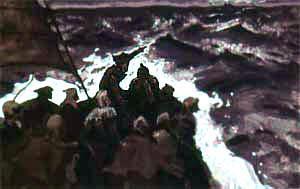 Робин Гуд со стрелками на борту корабля