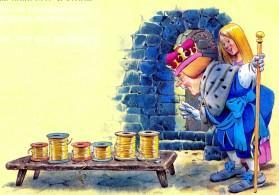 король удивлен сплетенными золотыми нитями
