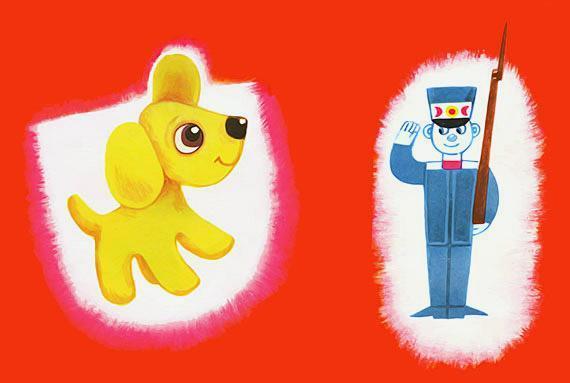 игрушечный пёсик и солдатик