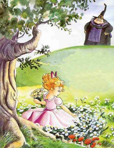 колдунья и маленькая Салаточка Рапунцель