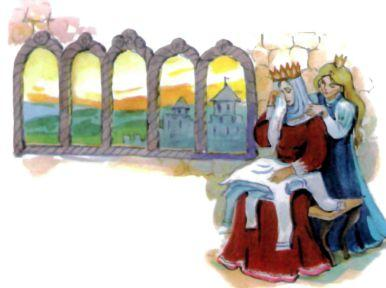 мать королева и дочь принцесса семь братьев