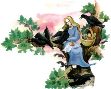 принцесса девушка и вороны