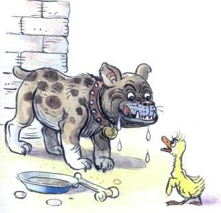 утенок и бульдог злая собака