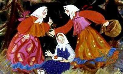 Вынула Маша блюдечко, покатила яблочко, стала петь-приговаривать
